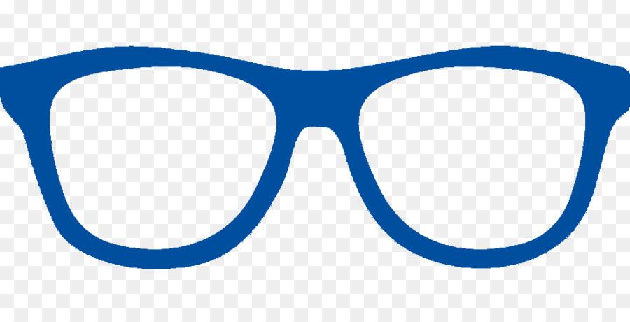 Cartoon glasses . Blue clipart sunglasses