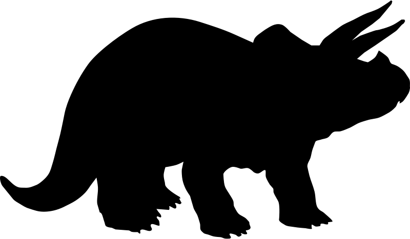 Dinosaur clipart tyrannosaurus rex. T silhouette clip art