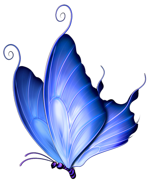 Blue clipart transparent. Deco butterfly png gallery