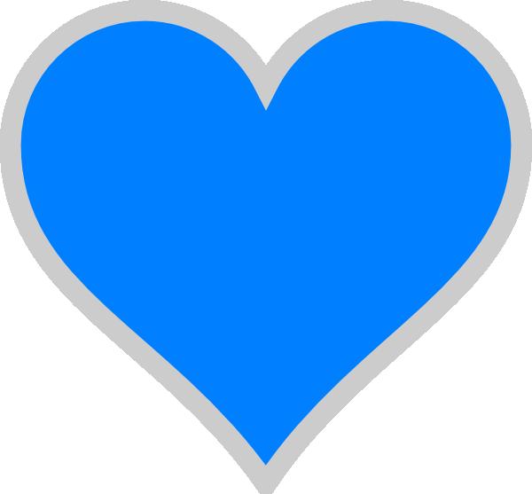 Blue clipart transparent. Heart