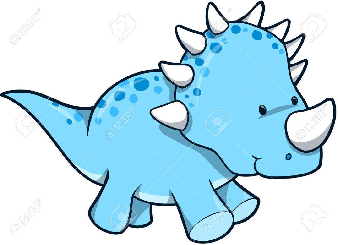 Stock dinosaurs in space. Clipart dinosaur vector