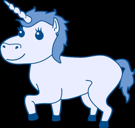 . Blue clipart unicorn