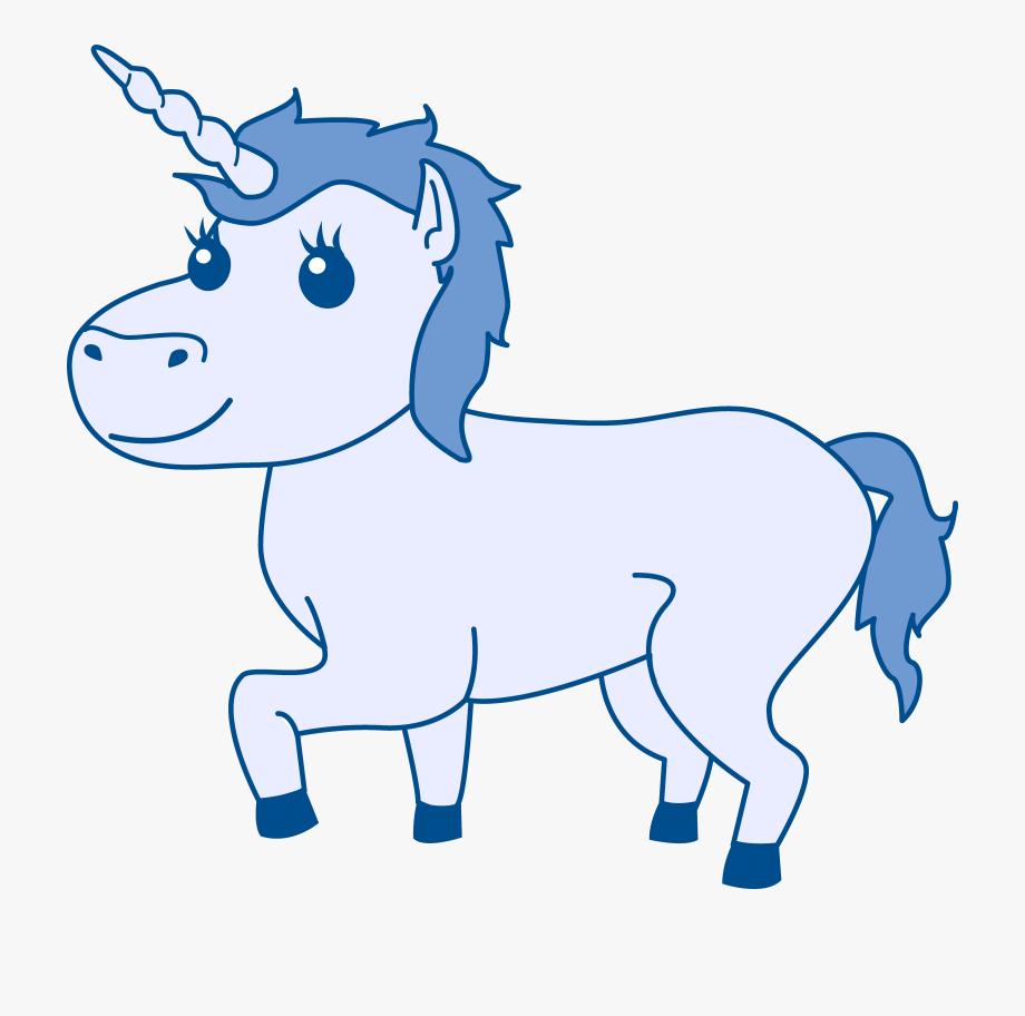 Horn free . Clipart unicorn blue