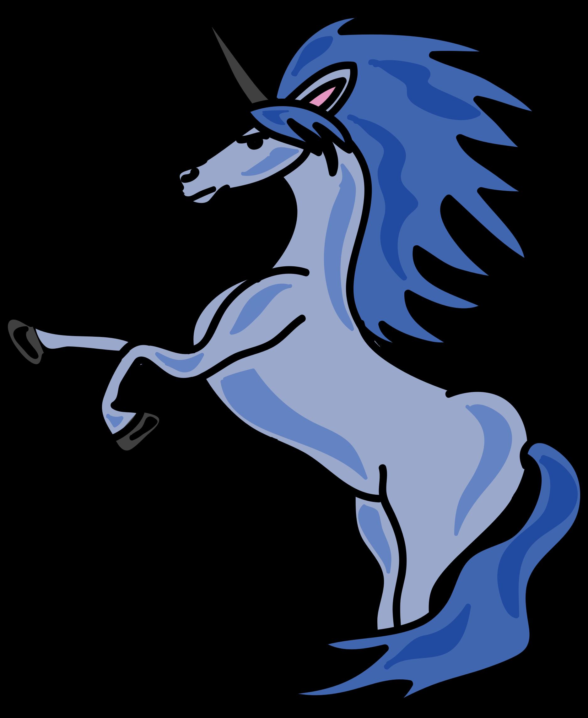 Blue clipart unicorn. Big image png
