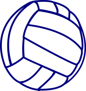 Outline clip art at. Blue clipart volleyball
