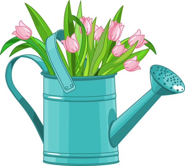 Clip art of a. Blue clipart watering can