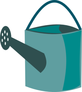 Green clip art at. Blue clipart watering can