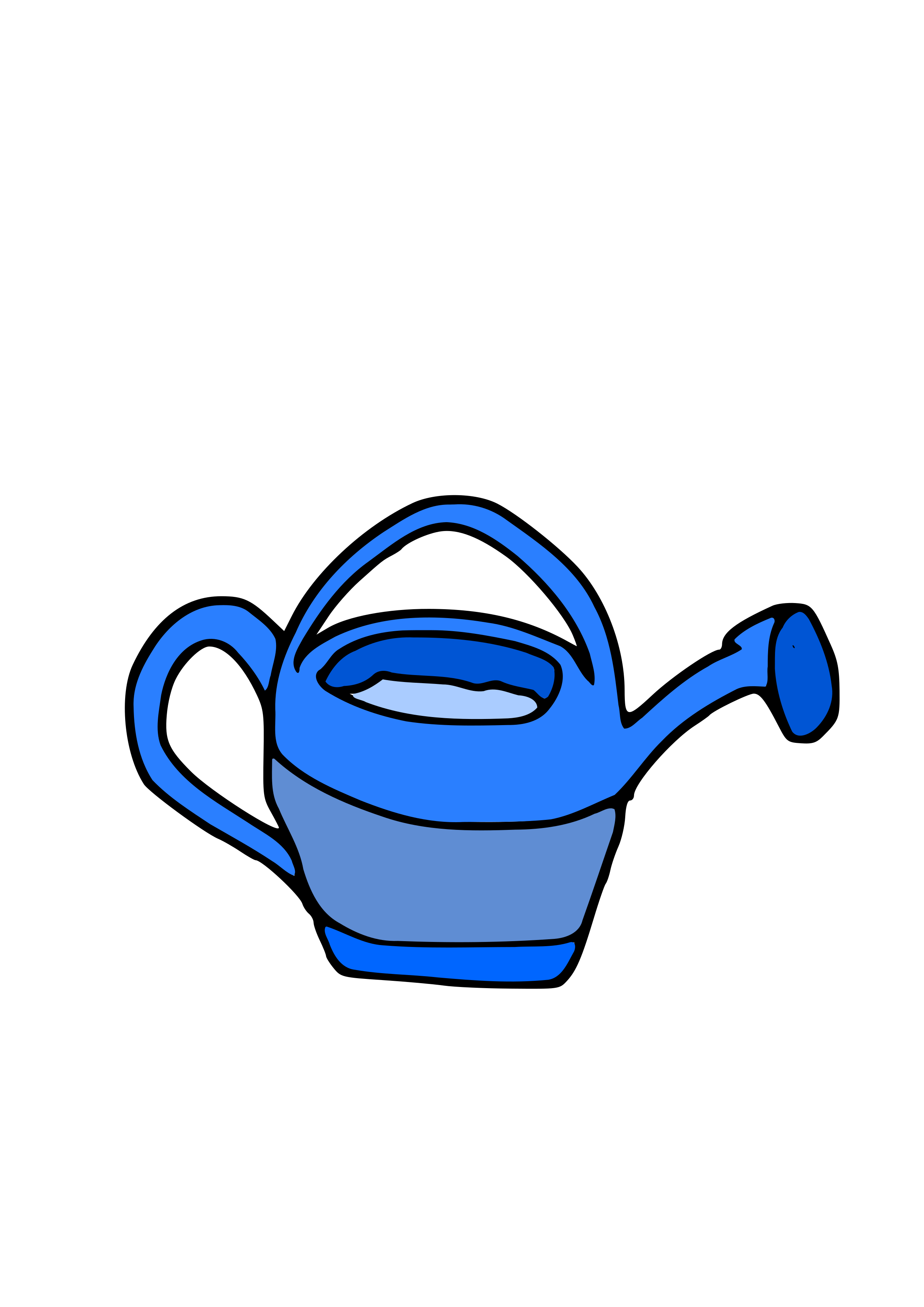 C regador big image. Blue clipart watering can