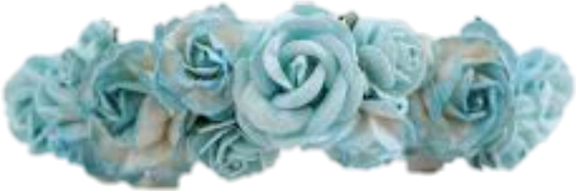 Flower crown teal. Blue png for