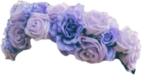 Blue flower crown png. Flowercrown tumblr lilac edit