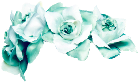 Blue flower crown png. Turqoise flowercrown rose roses