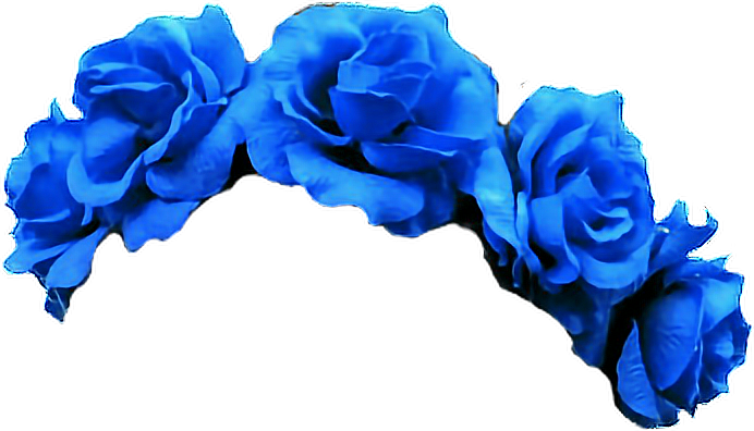 Blue flower crown png. Transparent image mix