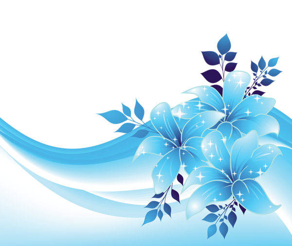 Blue flower png. Decoration with flowers transparent