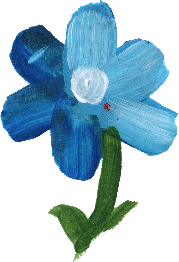 Blue flower png.  paint transparent onlygfx