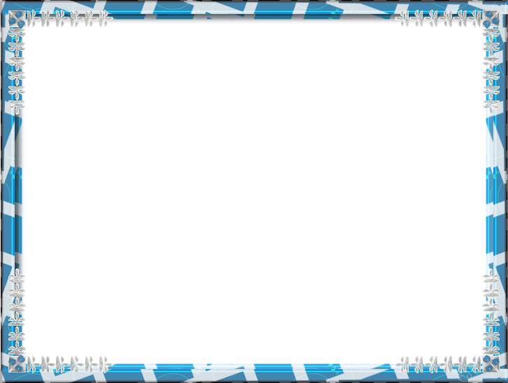 Photo arts. Blue frame png