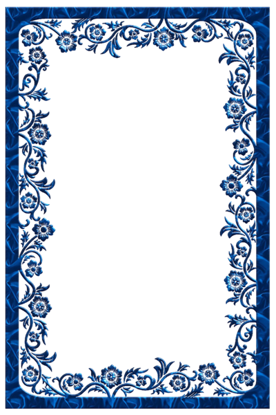 Large transparent frames pinterest. Blue frame png