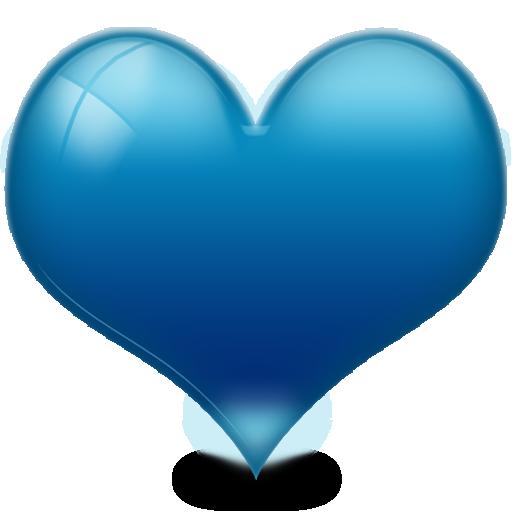 Heart d shiny free. Blue hearts png