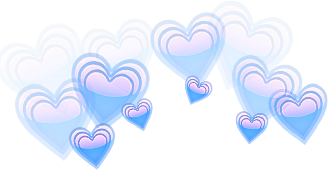 Blue hearts png. Edit overlay tumblr corazones