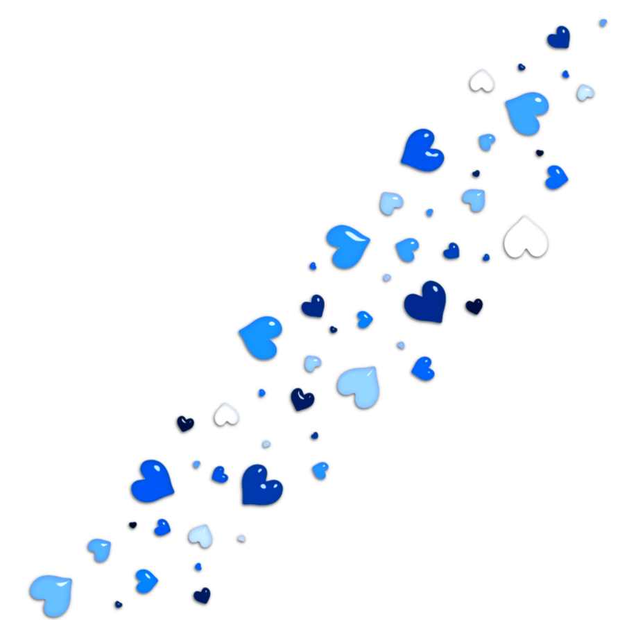 By alexedits on deviantart. Blue hearts png