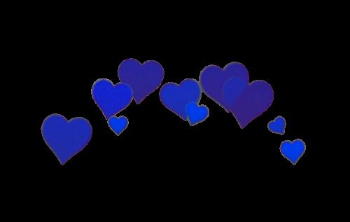 Tumblr crownheart bluehearts tumblrhearts. Blue hearts png