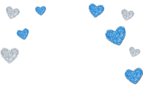 Blue hearts png. Free library
