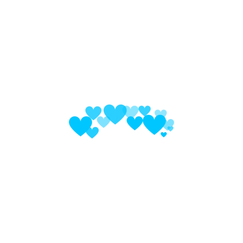 Blue hearts png. Made by me nd