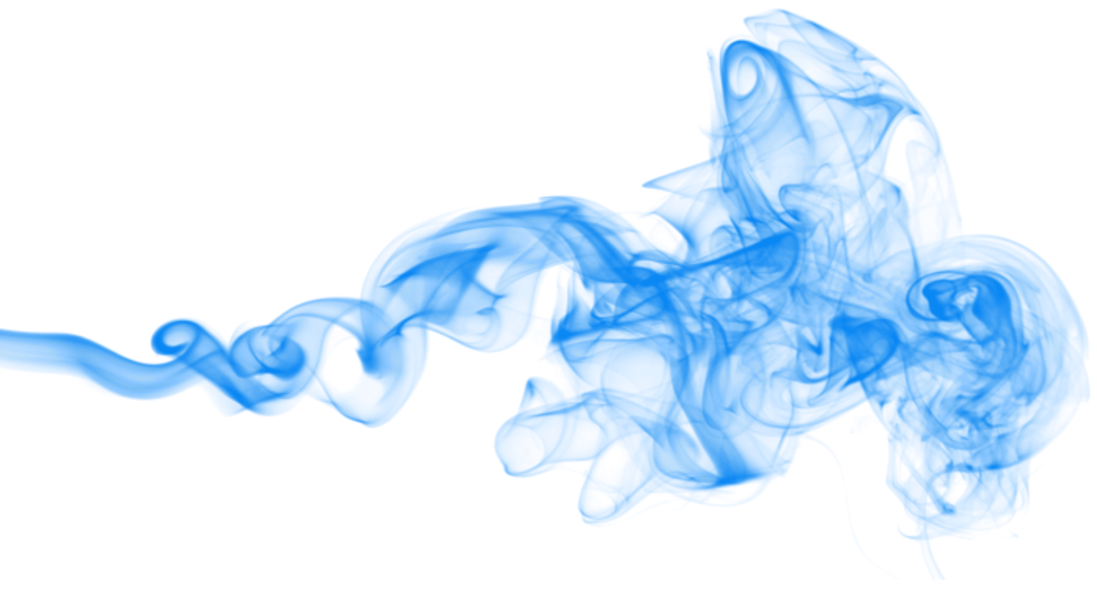 Transparent arts. Blue smoke png