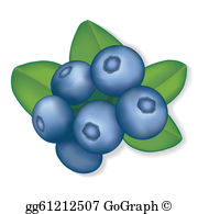 Blueberry clipart. Clip art royalty free