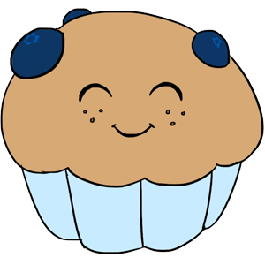 Blueberries clipart adorable. Squishable blueberry muffin an