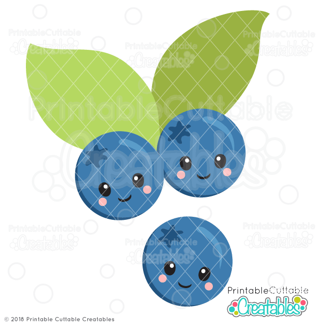 Cute free svg files. Blueberries clipart adorable