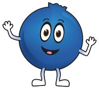 Blueberry clipart animated. Clip art illustration of