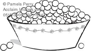 Blueberries clipart black and white. Clip art illustration of