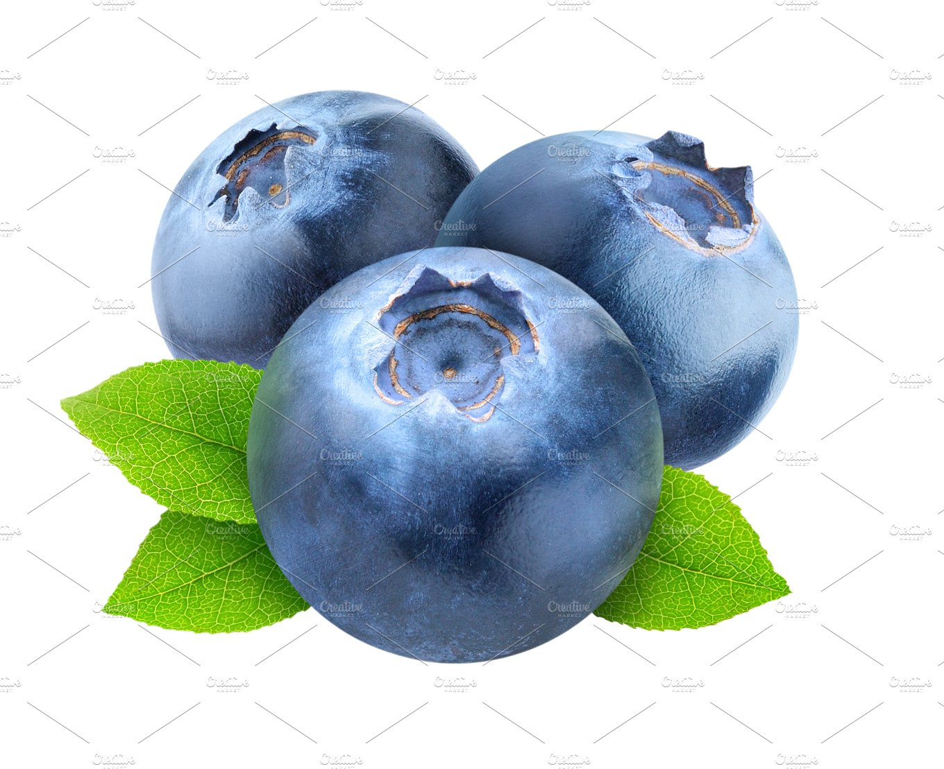 Three blueberries isolated food. Blueberry clipart one blueberry