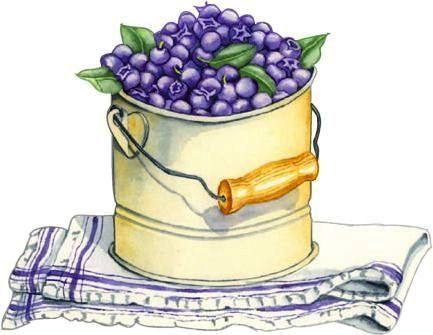 Pinterest decoupage and clip. Blueberry clipart blueberry basket