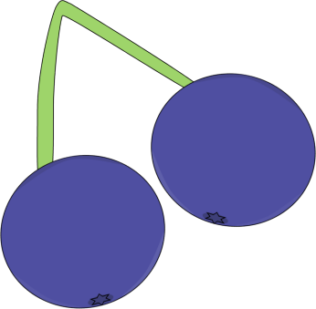Blueberries clipart blueberry fruit. On a vine clip