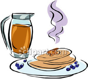 Pancakes with syrup royalty. Blueberry clipart blueberry pancake