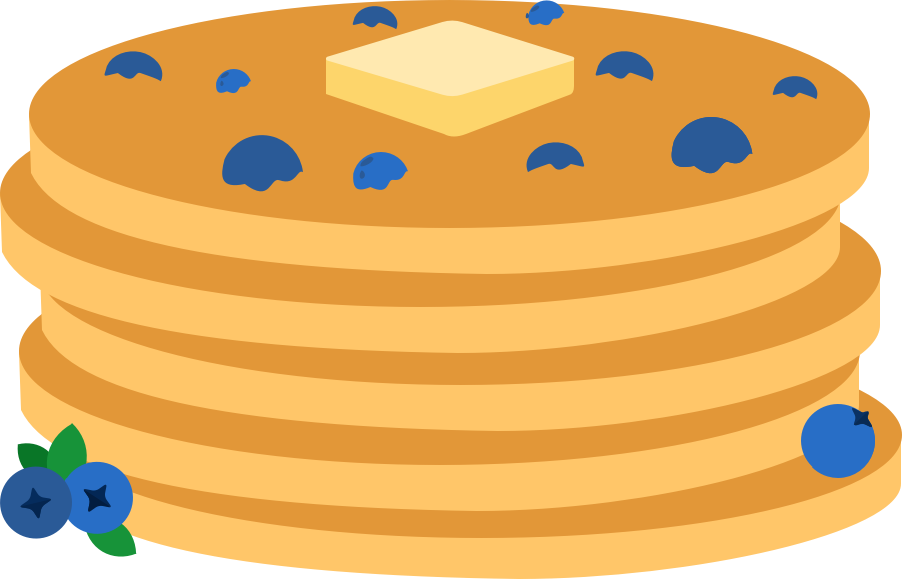 Wild pancakes maine museum. Blueberry clipart blueberry pancake