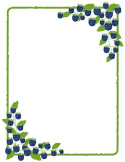 best page borders. Blueberry clipart border