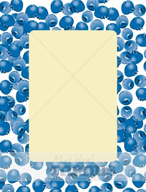 Blueberry clipart border. Frame event graphics