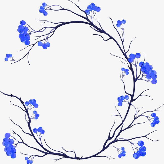 Blueberry blue png image. Blueberries clipart branch