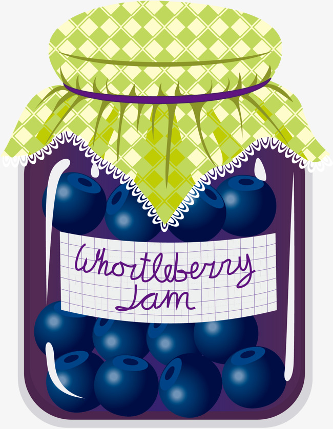 Blueberry jar png image. Blueberries clipart cartoon