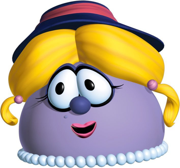 Blueberries clipart character. Madame blueberry veggietales it