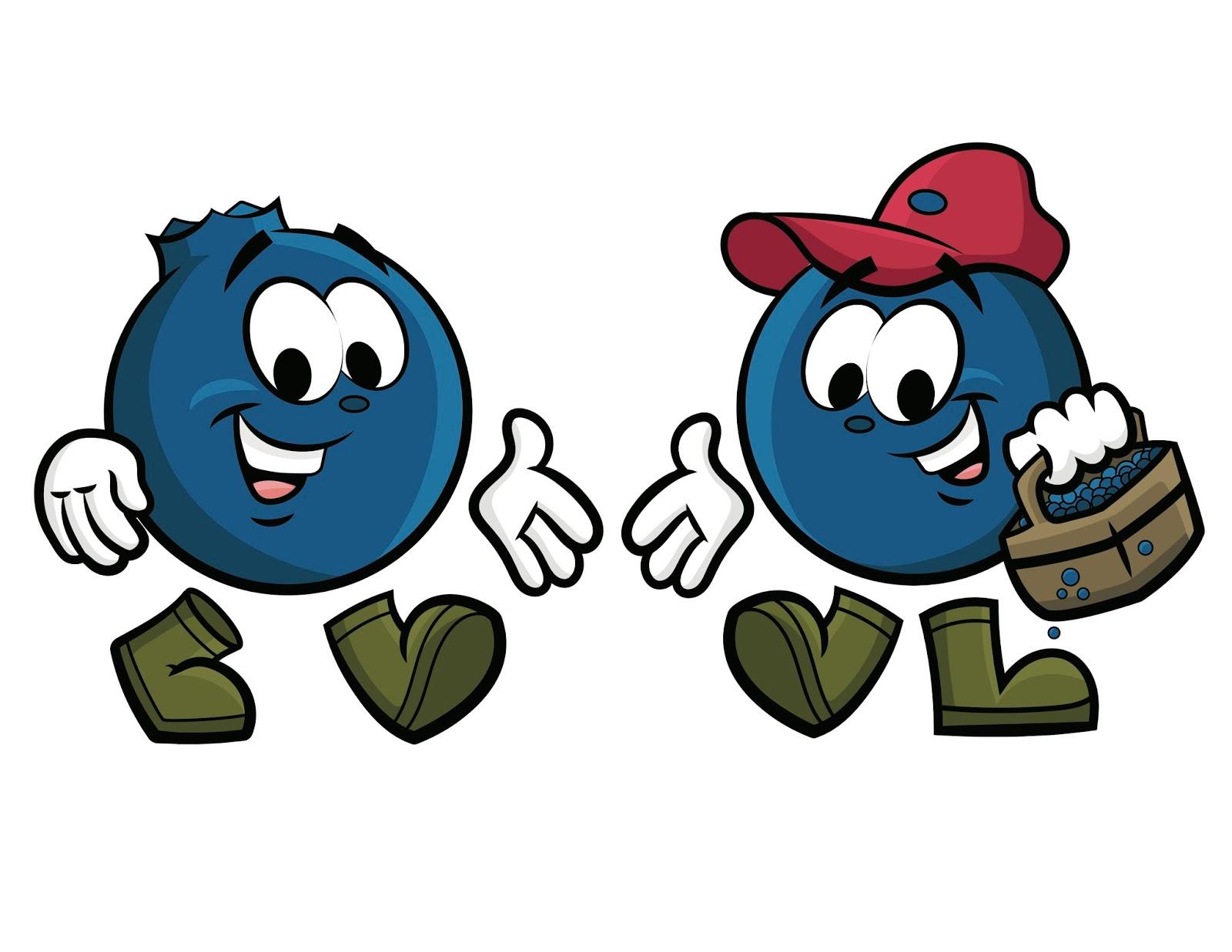 Blueberries clipart character. Cann s cartoons cute