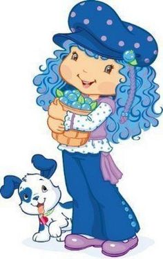 Strawberry shortcake style tips. Blueberries clipart character
