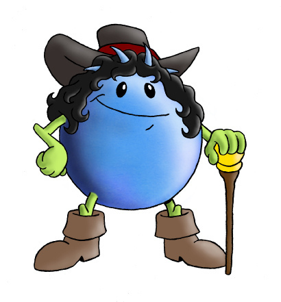Blueberry clipart character. Wild ones champlain illustration