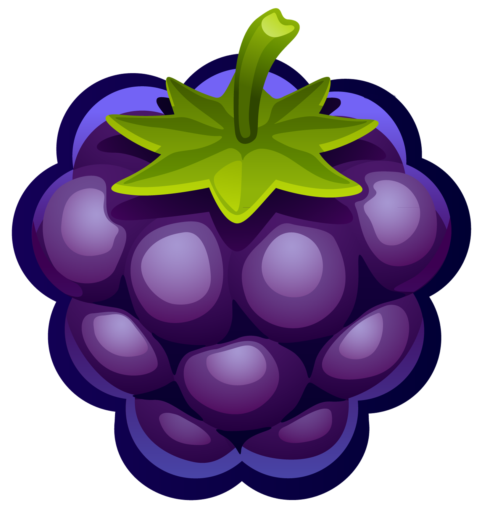 Grapes clipart painted. Large blueberry png gallery