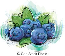 Painting this blueberries . Blueberry clipart clip art