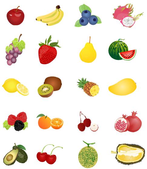 Blueberries clipart cute. Fruit including apple banana