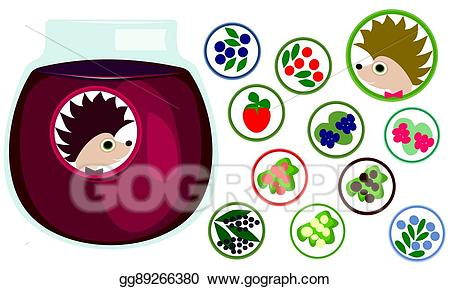 Blueberry clipart elderberry. Vector berries stickers collection