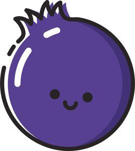 Food tagged shinobi stickers. Blueberry clipart emoji
